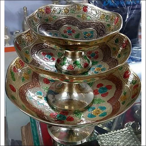 Vintage Brass Fruit Bowl