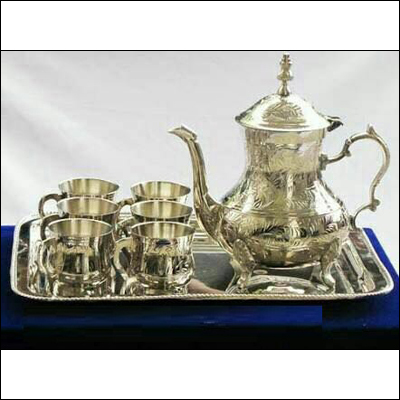 Silver Tea Set With Jug