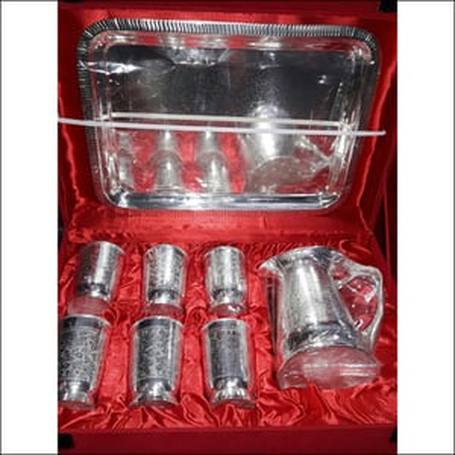 Silver Glass & Jug Set