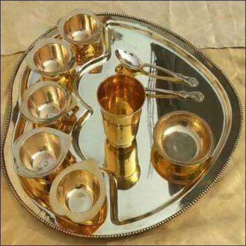 Brass Maharaja Thali set with Bowl