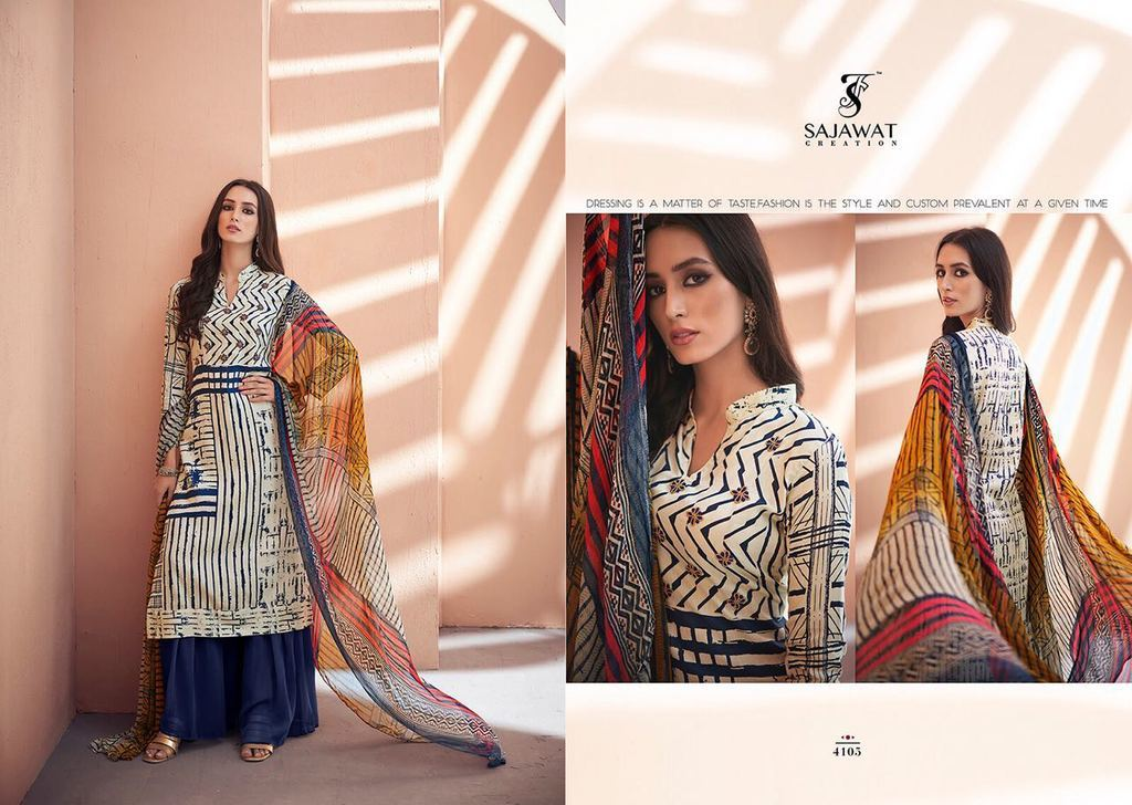 Fancy Printed Suit With Plazo