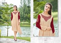 Western Embroidery Work Kurtis