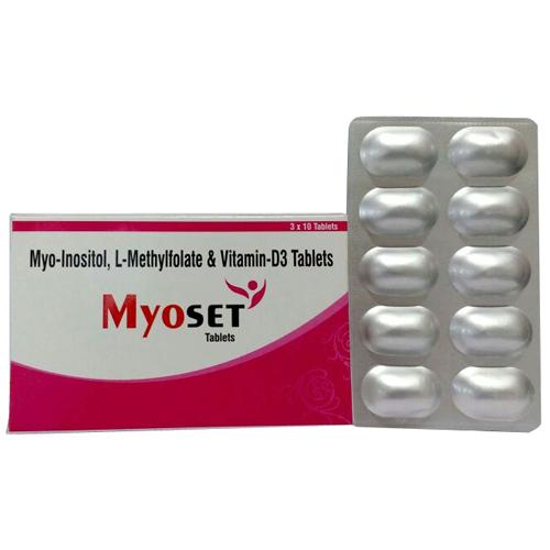Myo-Inositol, L-Methylfolate & Vitamin-D3 Tablets