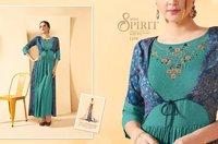 Fancy Work Designer Long Kurtis