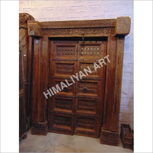 Wooden Teak Door With Antique