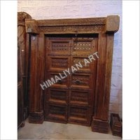 WOODEN TEAK DOOR WITH ANTIQUEI