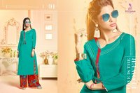 Rayon Kurtis With Print Plazo