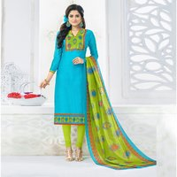 Printed Chanderi Salwar Suit