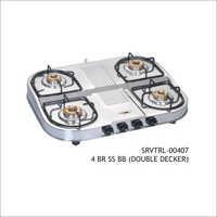 4 Burner SS BB (Double Decker)