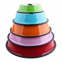 Multicolor Dog Bowls