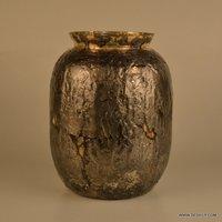 Little India Golden Golden Silver Work Flower Vase