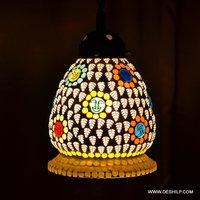 Glass White Pendant Swag Hanging Lamp Light