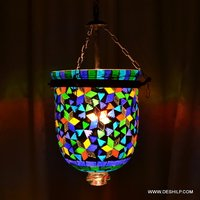 Glass Pendant Hanging Lamp Chandelier Lighting