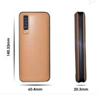 Leather Look 3 USB out Powerbanks 15000 and 20000mAh Li-Ion