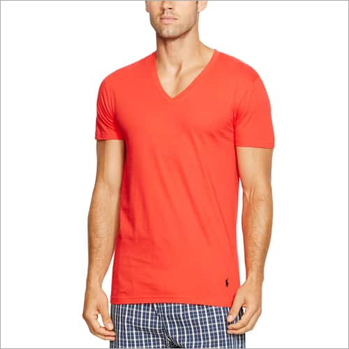 Mens Cotton V Neck T Shirt