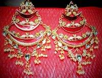 Kundan Half bell Earring