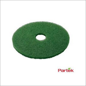 Partek 20 Inch Polyester Floor Pad Pack of 5 Piece - Green PFPG20