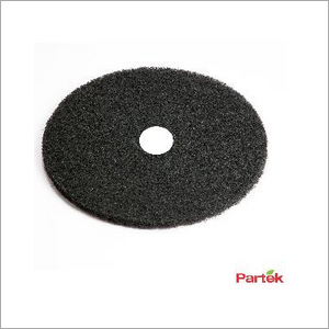 Partek 20 Inch Polyester Floor Pad Pack of 5 Piece - Black PFPB20