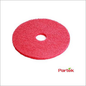 Partek 20 Inch Polyester Floor Pad Pack of 5 Piece - Red PFPR20