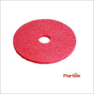 Partek 17 Inch Polyester Floor Pad Pack of 5 Piece - Red PFPR17