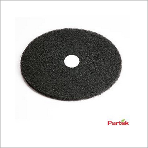 Partek 17 Inch Polyester Floor Pad Pack of 5 Piece - Black PFPB17