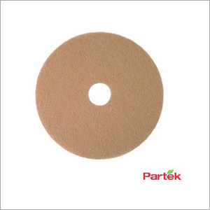 Partek 20 Inch Tan Pad For Floor Burnishers Pack of 5 Piece PFPBRN20