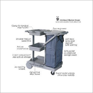 Partek Housekeeping Janitorial Service Cart Trolley GREYLINE 1500