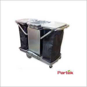 Partek Housekeeping Janitorial Service Cart Trolley GREYLINE 2000B