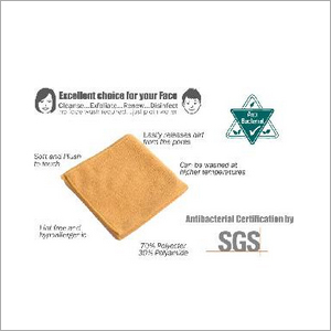 Partek Microfiber High Performance Antibacterial Face Hygiene Cloth MFAB38 Y
