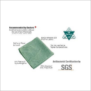 Partek Microfiber High Performance Antibacterial Face Hygiene Cloth MFAB38 G