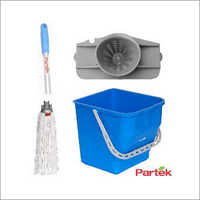 Partek Damp Mopping Set Includes Round Cotton Mop Blue PB25RW RCTNM01 AH05 B
