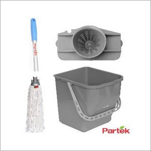 Partek Damp Mopping Set Includes Round Cotton Mop Grey PB25RW RCTNM01 AH05 GY