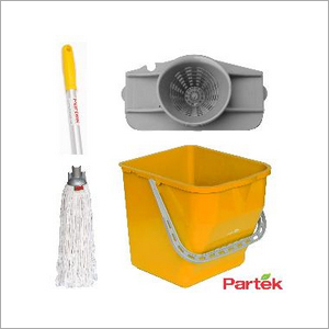 Partek Damp Mopping Set Includes Round Cotton Mop Yellow PB25RW RCTNM01 AH05 Y