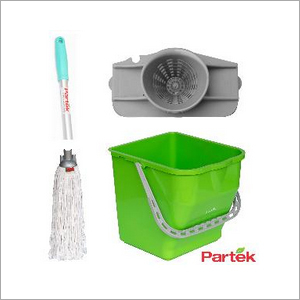 Partek Damp Mopping Set Includes Round Cotton Mop Green PB25RW RCTNM01 AH05 G