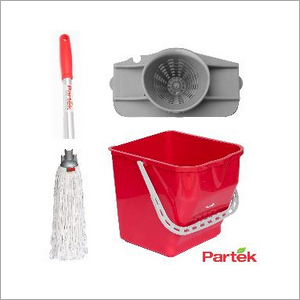 Partek Damp Mopping Set Includes Round Cotton Mop Red PB25RW RCTNM01 AH05 R