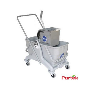 Partek Eco 50 Double Bucket Mopping Trolley With Side Press Wringer DB50ASP GY