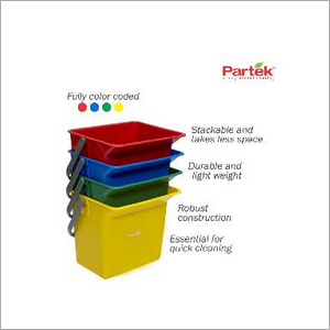 Partek 6 Litre Bucket Color Coded - Yellow PB06 Y