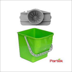 Partek Robin Bucket 25 Liters + Round Mop Wringer Squeeze Green PB25RW G