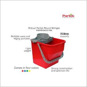 Partek Robin Bucket 25 Liters + Round Mop Wringer Squeeze Yellow PB25RW Y