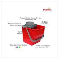 Partek Robin Bucket 25 Liters + Round Mop Wringer Squeeze Blue PB25RW B