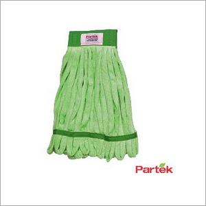 Partek Lito Microfiber String Mop With Scrub Band 500 Washes Green LMMH200N G