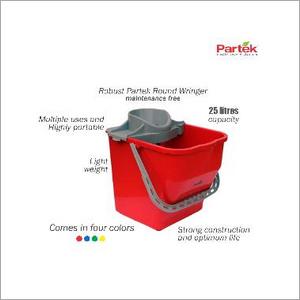 Partek Robin Bucket 25 Liters + Round Mop Wringer Squeeze Grey PB25RW GY