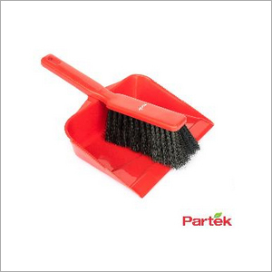Partek Color Coded Hand Dust Pan With Brush - Red HDPB01 R