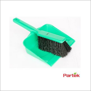 Partek Color Coded Hand Dust Pan With Brush - Green HDPB01 G