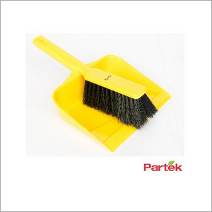 Partek Color Coded Hand Dust Pan With Brush - Yellow HDPB01 Y