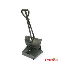 Partek Kwik Vertical Dust Pan With Cover & Broom Black BRS01 A