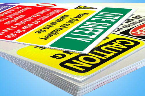 Screen Printing Corrugated Plastic Signs