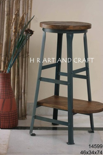 DUAL WOODEN TOP STOOL