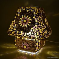 Mosaic Handmade Decorative Multicolored Crystal Table Lamp