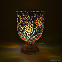 Decorative Table Lamp, Traditional Mosaic Glass Table Lamp